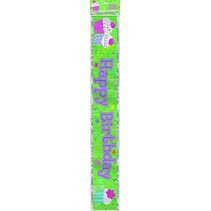 ***Cupcake Party Foil Birthday Banner