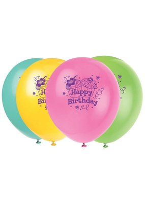 ***Cupcake Party Latex Balloons 8ct