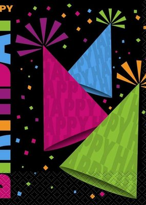 ***Neon Party Lunch Napkins