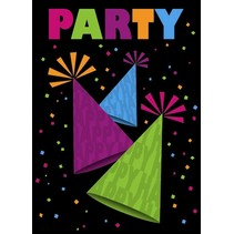 ***Neon Party Invitations 8ct