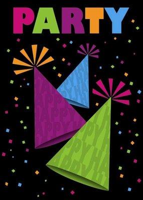 ***Neon Party Invitations 8ct