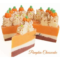 Pumpkin Cheesecake Soap Cake Slice
