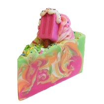 Rainbow Sherbet Cake Slice Soap