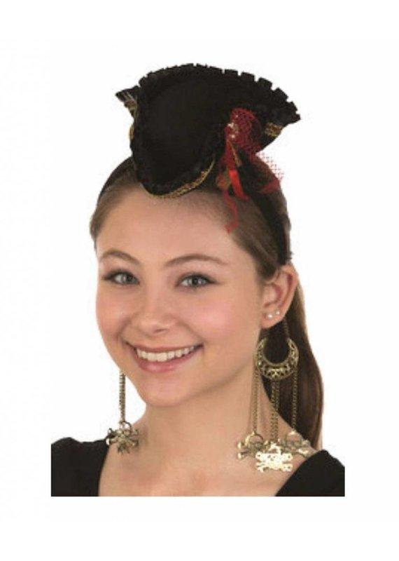 Jacobson Hat Company ****Mini Pirate Hat Headband w/Dangling Skull & Crossbones