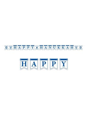 ****Happy Haunukkah 12ft Streamer Banner