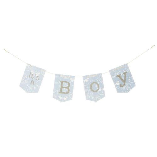 It's A Boy Jointed Pennant Banner