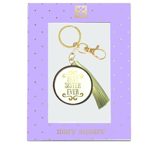 Mary Square Best Sister Ever Keychain