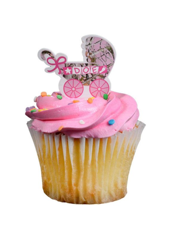***Pink Camo Doe Cupcake Picks
