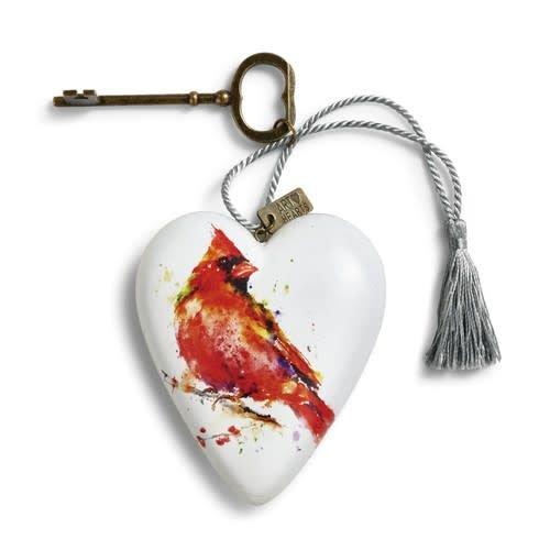 Cardinal Art Heart