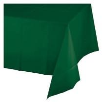 *Hunter Green 54x108 Rectangle Plastic Tablecover