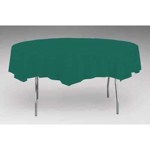 *Hunter Green Octy Round Plastic Tablecover