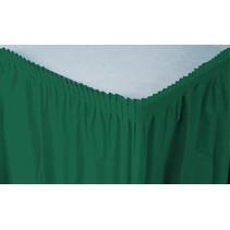 *Hunter Green Plastic Table Skirt 21.5ft Full Wrap Around