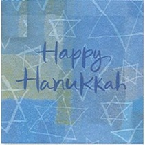 *Hanukkah Menorah Beverage Napkin 16ct