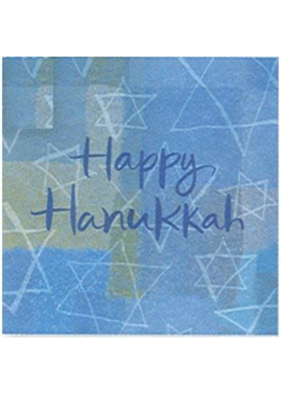 ****Hanukkah Menorah Beverage Napkin 16ct
