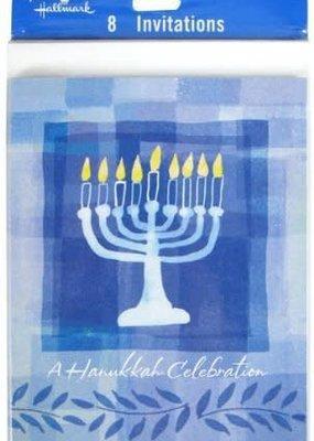 ***Hanukkah Menorah Invitations 8ct