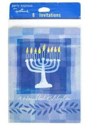 ****Hanukkah Menorah Invitations 8ct