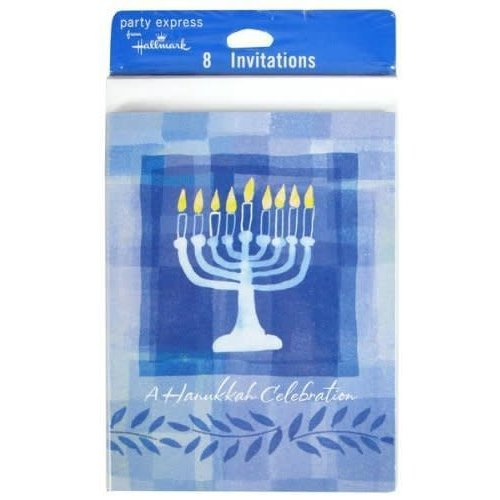 *Hanukkah Menorah Invitations 8ct