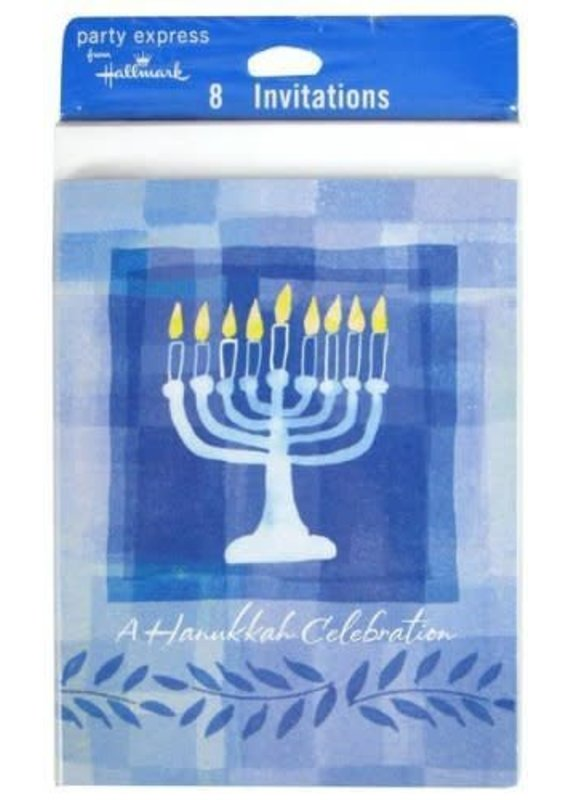 ****Hanukkah Menorah Invitations 8ct