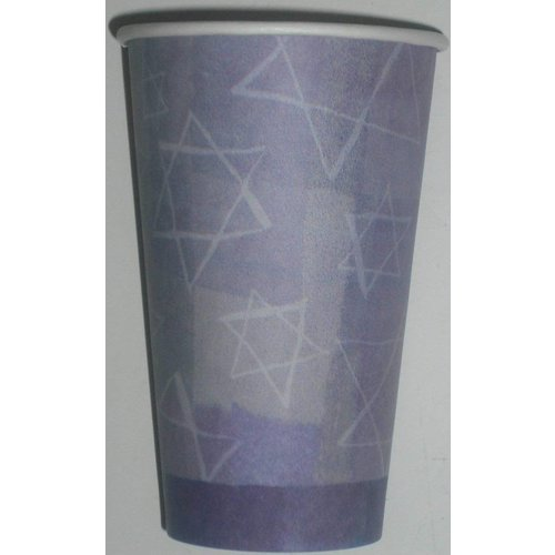 *Hanukkah Menorah 16oz Paper Cups 8ct