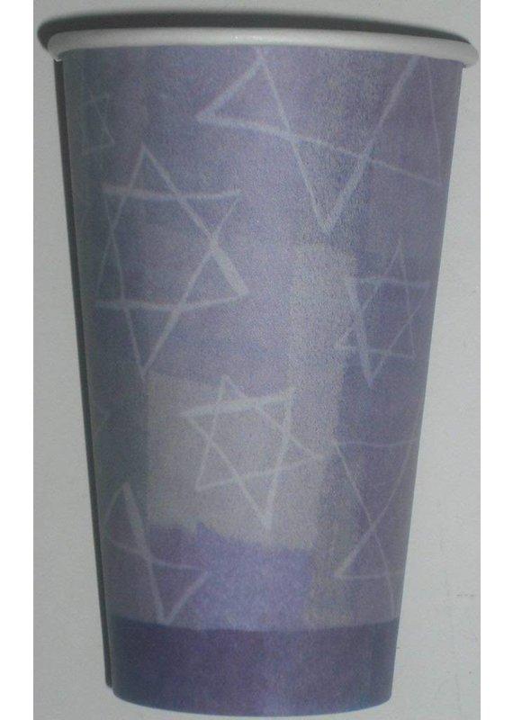 ***Hanukkah Menorah 16oz Paper Cups 8ct