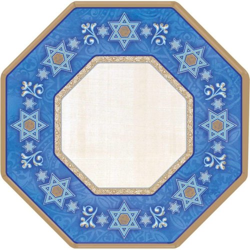 "*Judaic Traditions 10"" Octagon Paper Plates 8ct"