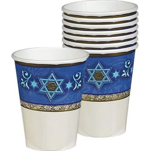 *Judaic Traditions 9oz Paper Cups 8ct