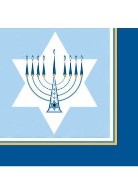 ****Hanukkah Lights Lunch Napkins 18ct