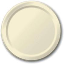 "***Ivory 9"" Paper Dinner Plates 24ct"