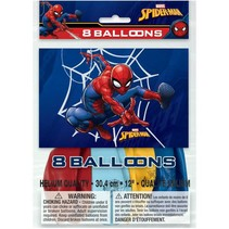 ***Spiderman 8ct Latex Balloons
