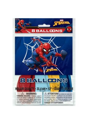 ****Spiderman 8ct Latex Balloons