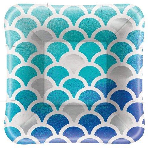 Mermaid 5in Square Dessert Plate