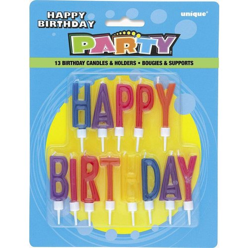 Happy Birthday Letter Candles 13ct