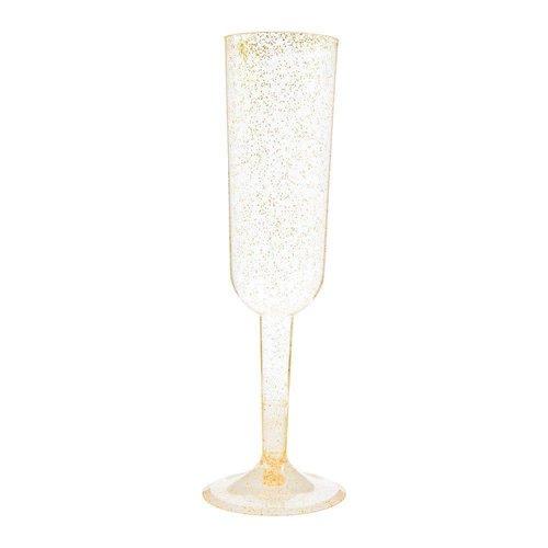 Gold Sparkle Champagne Glasses