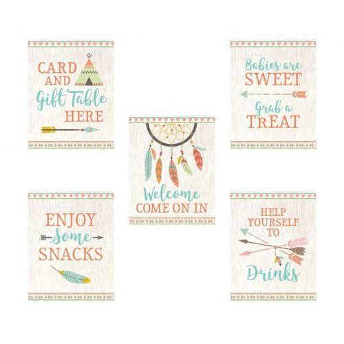 Boho Tribal Baby Shower Signs