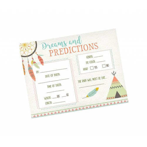 Boho Baby Shower Prediction Cards