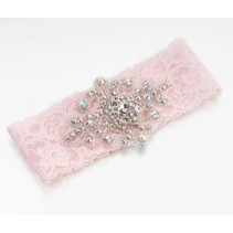 ***Jeweled Pink Garter