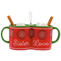 Sister Love Hot Cocoa Mugs Christmas Tree Ornament