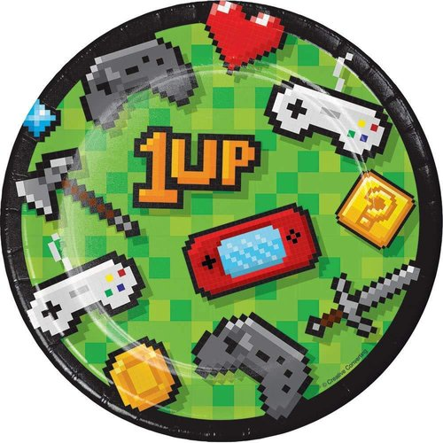 """Gaming Party 7"""" Plates 8ct"""