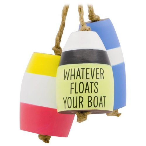 Float Your Boat Buoys Wood Christmas Tree  Ornament
