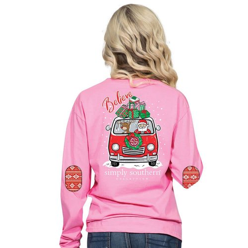 Long Sleeve Santa Flamingo
