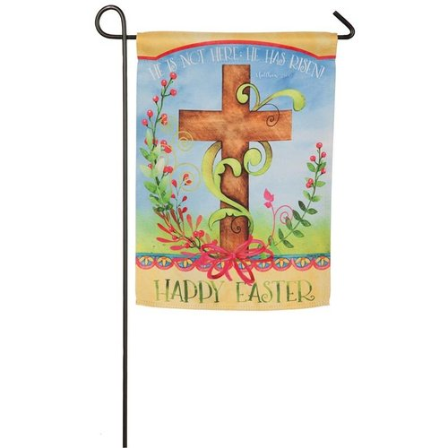 Easter Blessing Garden Suede Flag