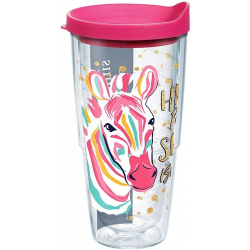 Tervis Happy People Shine Brighter Zebra Simply Southern 24oz Tervis Tumbler