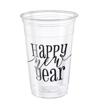 New Years 16oz Plastic Cup 8ct.