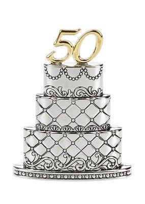 ***50th Wedding Anniversary Cake Figurine