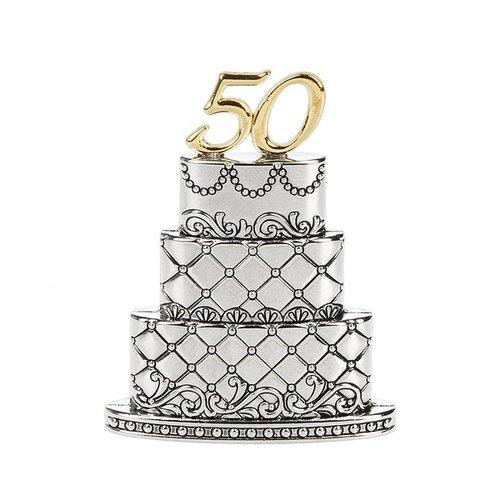 50th Wedding Anniversary Cake Figurine