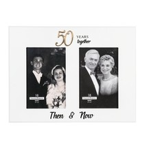 ***50 Years Together Then & Now Frame