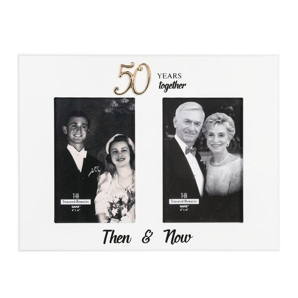 50 Years Together Then Now Frame Amys Party Store