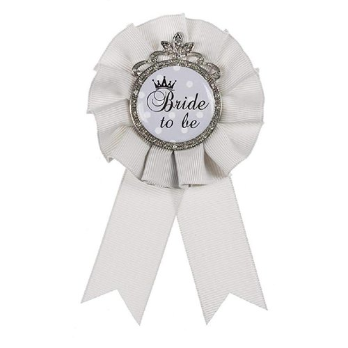 Bride To Be Pin Gray & Silver