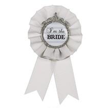 I'm the Bride Pin Gray & Silver