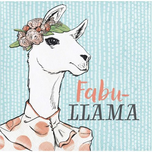 Dapper Fabu-Llama Beverage Napkin